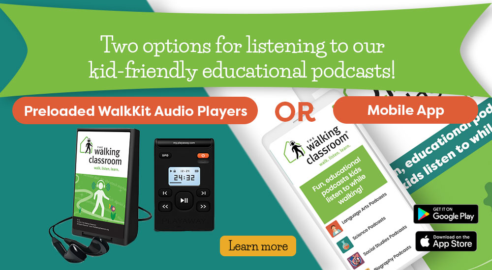 Two ways to listen to our kid-friendly educational podcasts