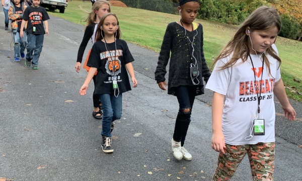 Second Graders Walk, Listen, and Learn!